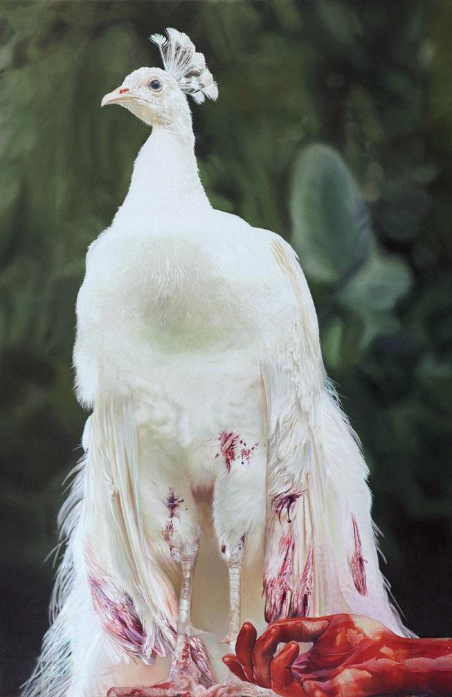 Taner Ceylan'ın, 'Birth of hope Ümidin Doğuşu. 215x140 cm Tuval üzerine yağlıboya. 1