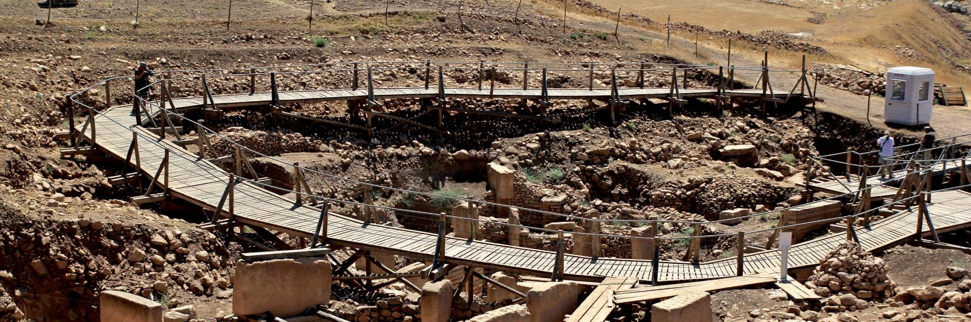 Şanlıurfa'da Göbeklitepe harabelerinin bulunduğu yerdeki arkeolojik kazı alanı