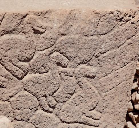 Göbeklitepe'de Cilalı Taş Devri'nden kalma taş figürleri