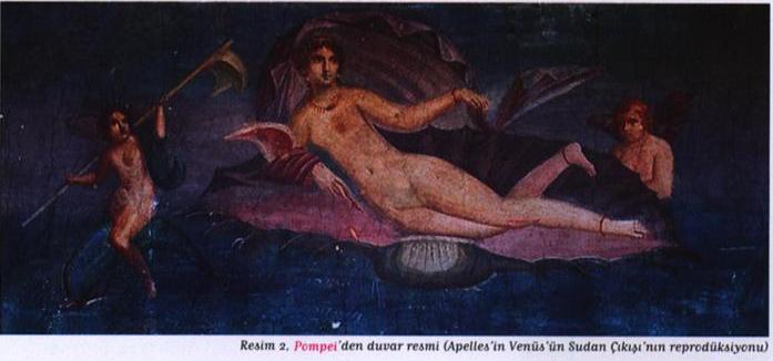 Pompei'den duvar resmi (Apelles'in Venüs'ün Sudan Çıkışı'nın reprodüksiyonu)