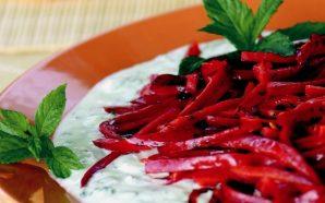Yoğurtlu Kırmızı Biber (Meze Tarifi)