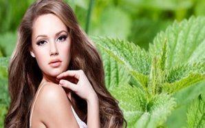 Isırgan otu ile saçları doğal gürleştirin