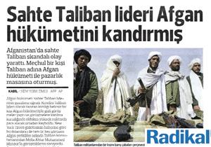 Taliban'ın oyunu