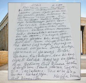 Nazife Dümen Atatürke Mektup
