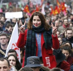 Fransa'da öğrencilerin eylemleri