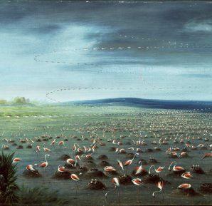 George Catlin, Flamingolar İçin Pusu, 1857