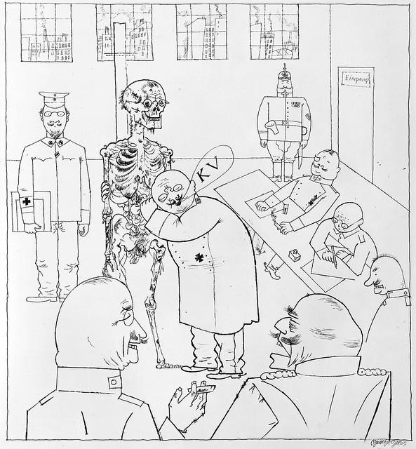 George Grosz, Cephe hizmetine uygun